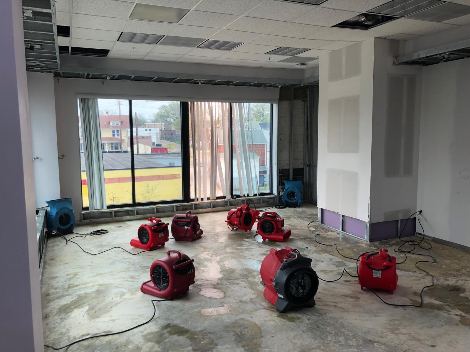 commercial water damage remova;